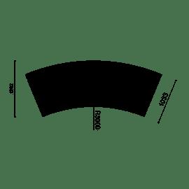 Libre Doppia DS 22.5 w/Backrest - 45° Curve