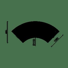 Libre Doppia DS 90 w/Backrest - 90° Curve
