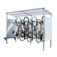 Sheds for bike storage shelters covers thumbnail 1