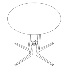 Cafe Dining Table Wingra Base