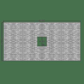Cascade Rectangle 4'x8'