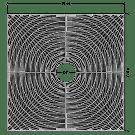 Fan Square 8'