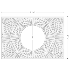 Kiva Rectangle 3'x2'