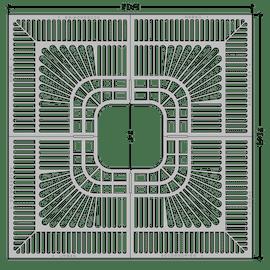 Standard Flat Square 5'