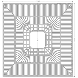 Standard Flat Square 6'