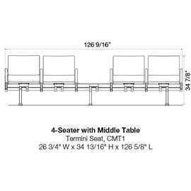 4-Seater with Middle Table