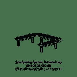 CMA 2B-C90-2B-C90-2B Pedestal Leg