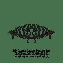 CMA 2S-C90 Square Pedestal Leg