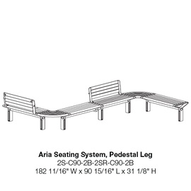 CMA 2S-C90-2B-2SR-C90-2B Pedestal Leg