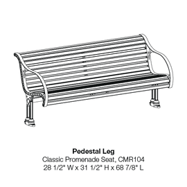 CMR104 Pedestal Leg