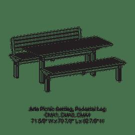 CMA1-CMA6-CMA4 Pedestal Leg