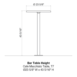T7 Bar Table Height